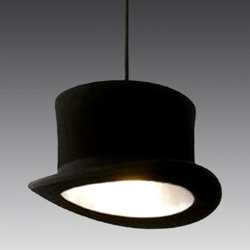Love vintage fashion? Love this top hat pendant light