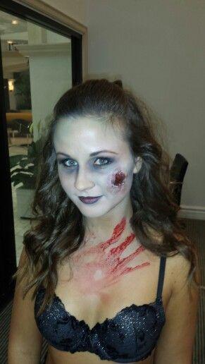 Sexy zombie make-up by Sarah Chesshir www.sarahchesshir.com