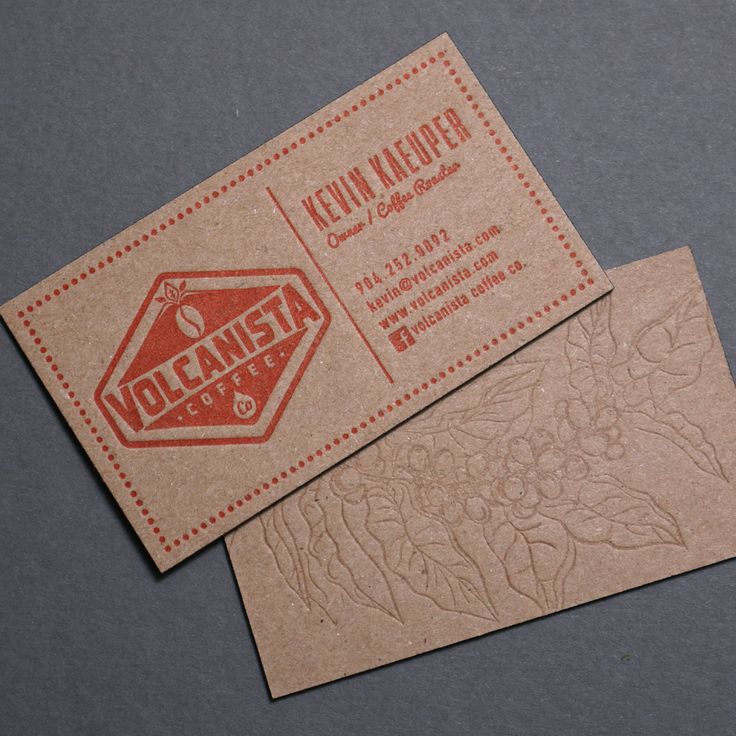 73 best printed by rise and shine letterpress images on pinterest fresh brewed business cards printed for volcanista coffee letterpress chipboard business cards reheart Images