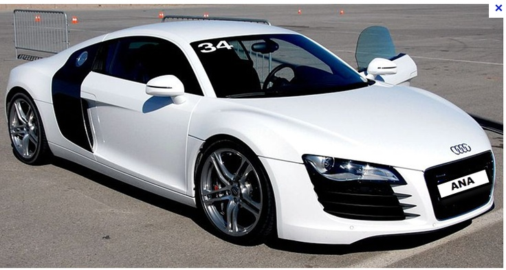 White Audi R8 - Ana's first birthday present  from Christian.