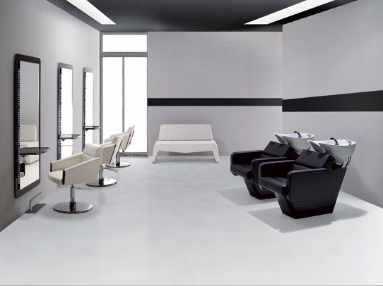 Ambiance salon chopper bac lavage standard fauteuil de for Miroir virtuel coiffure