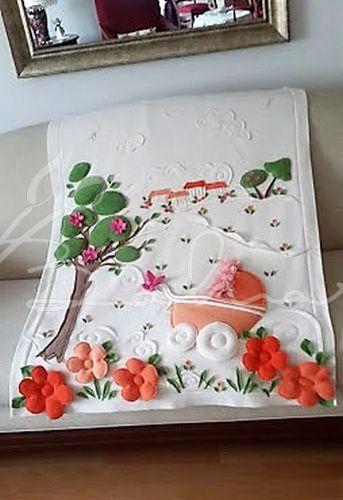Polar bebek battaniyesi  Baharca tasarım  handmade