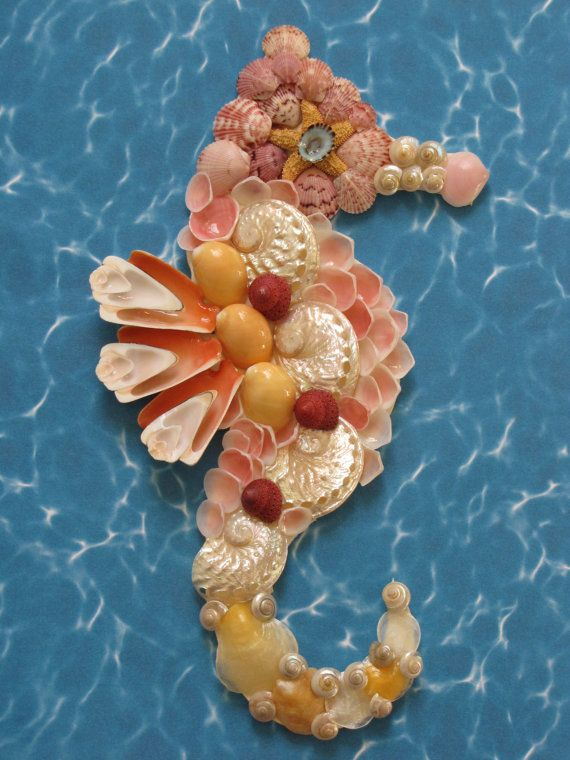 Hey, I found this really awesome Etsy listing at https://www.etsy.com/listing/220908353/seahorse-wall-decor-pink-seahorse-shell