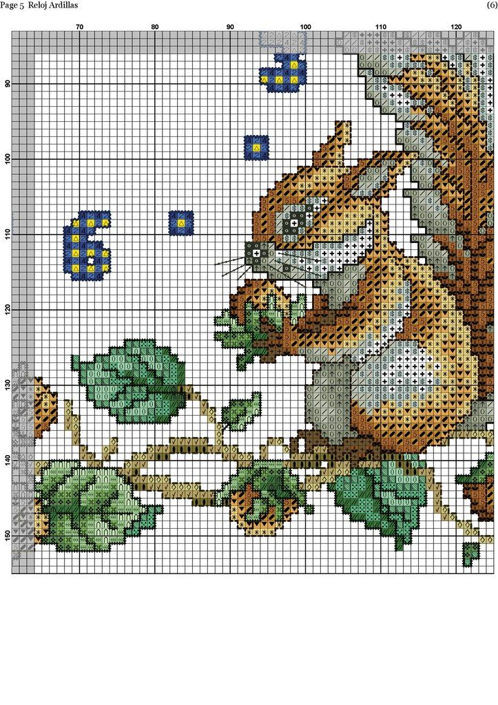 Squirrel Clock 6/8