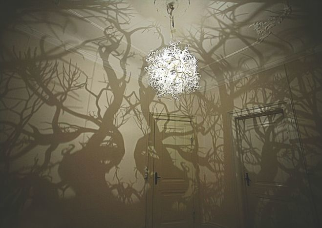 [Image] | Chandelier That Turns Your Room Into A Forest - TIMEWHEEL