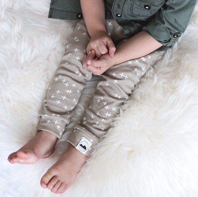 Perfect play time pants! Mushroom coloured gender neutral leggings! 100% organic knit.