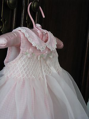 Organza over gingham. Very nice!