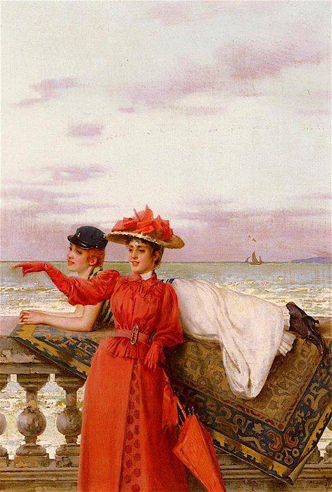 Vittorio Corcos  (Livorno, 4 ottobre 1859 – Firenze, 8 novembre 1933) Che guarda al mare