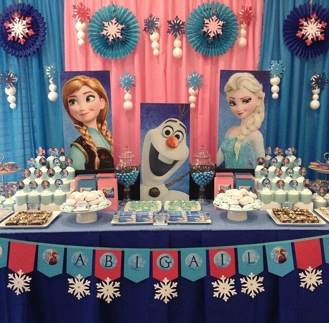 Frozen birthday theme
