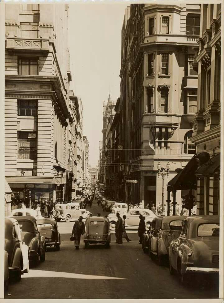 Flinders Lane,Melbourne,Victoria, looking west in 1950.