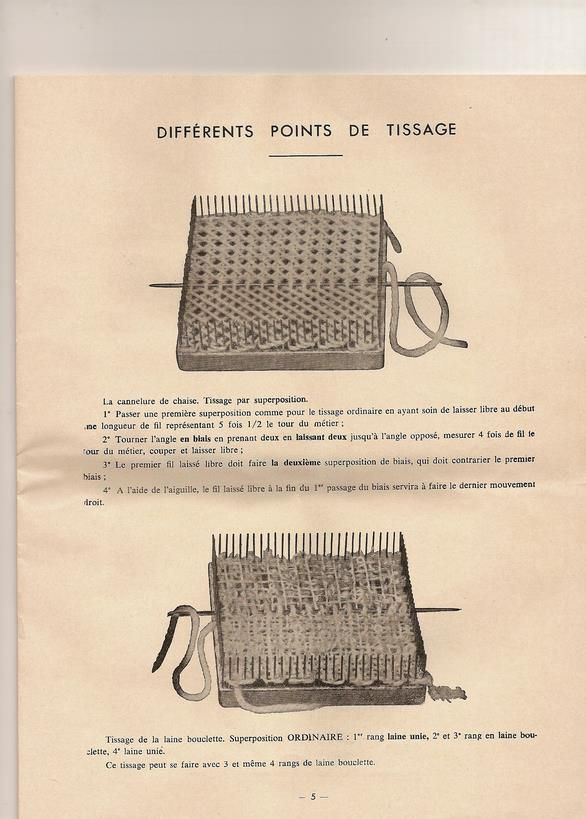 how to weave on a loom instruction