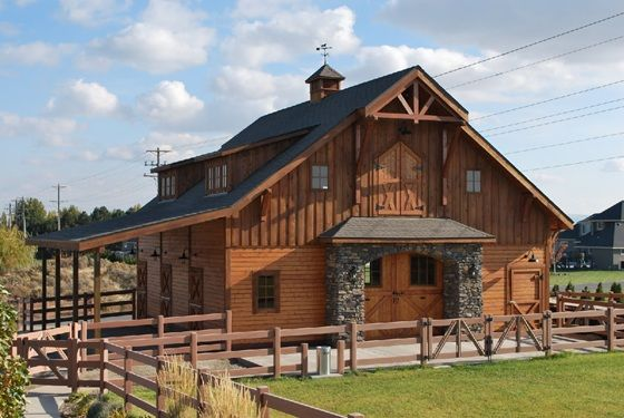 31 best gable style barns images on pinterest horse for Barn kits with apartments