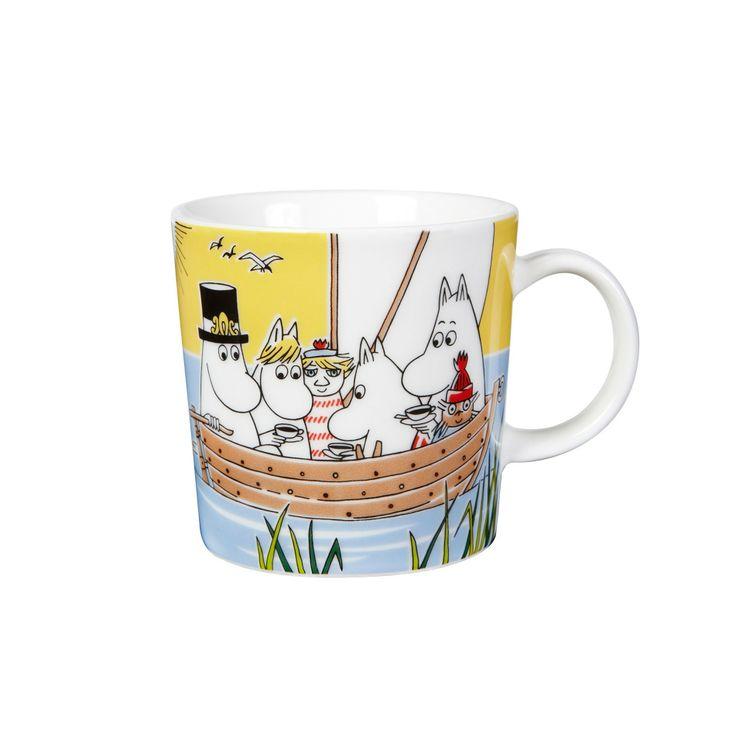 Moomin mug, Sailing with the Niblings and Tooticky