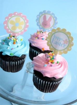 Easter cupcake topper printables