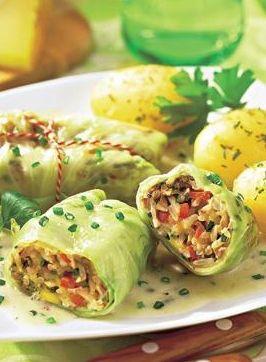 vegetarische Kohlrouladen mit Reis & Pilzen: http://kochen.bildderfrau.de/rezepte/rezept_kohlrouladen-mit-reis-und-pilzen_109271.aspx #vegetarisch