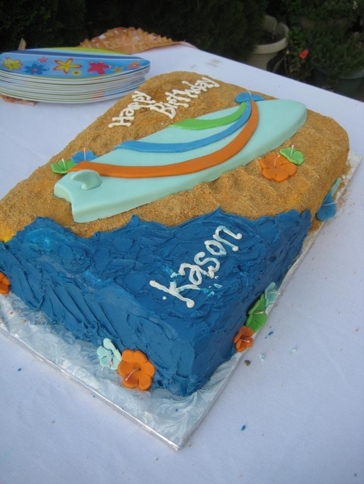 Surfboard cake