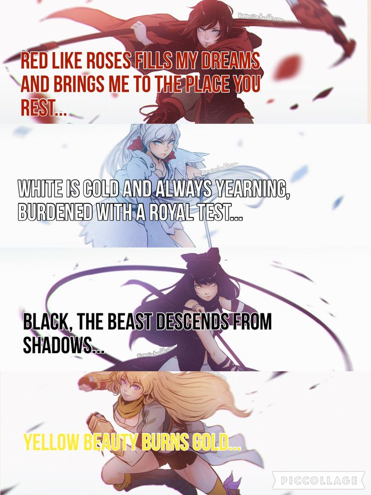 My friend made me make a RWBY quote  I haven't even seen it