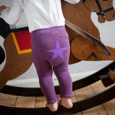 Baby Leggings in Mulberry Star | Blade and Rose | Sprogs Inc