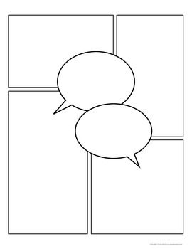 Comic Strip Template Pages for Creative Assignments - Tracee Orman - TeachersPayTeachers.com