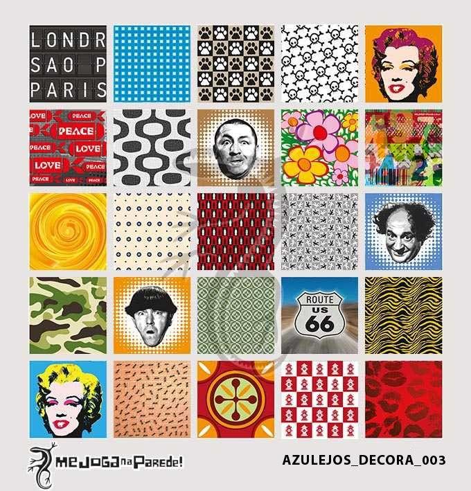 Azulejos Adesivos Decora nº 003 www.mejoganaparede.com.br