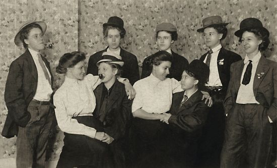 Photograph from 'The Invisibles,' a compendium of archival images of queer couples celebrating their love in the early twentieth century.