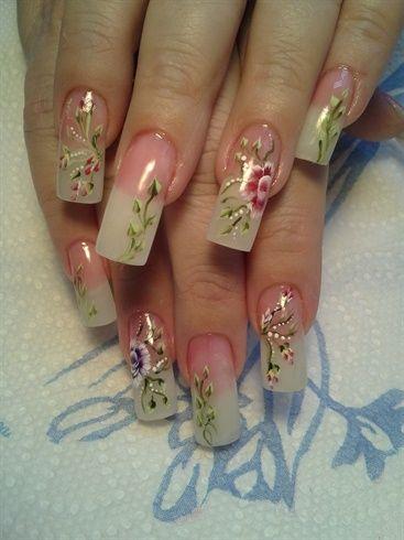 American French by fancynail84 - Nail Art Gallery nailartgallery.nailsmag.com by Nails Magazine www.nailsmag.com #nailart