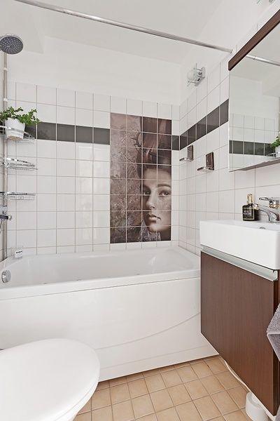 kakeldekor,brunsvart,badrum,lägenhet,till salu
