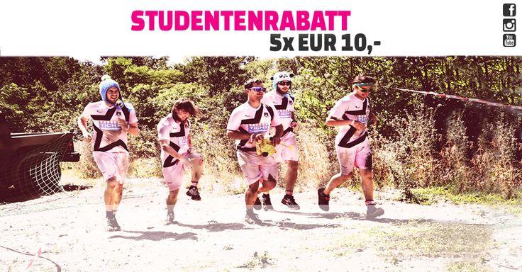 WILDSAU - lass sie raus! EUR 50,- Studentenrabatt.  #wildsaudirtrun #student #studenten #rabatt #running #laufen #obstaclecours #hindernislauf #outdoor #sport