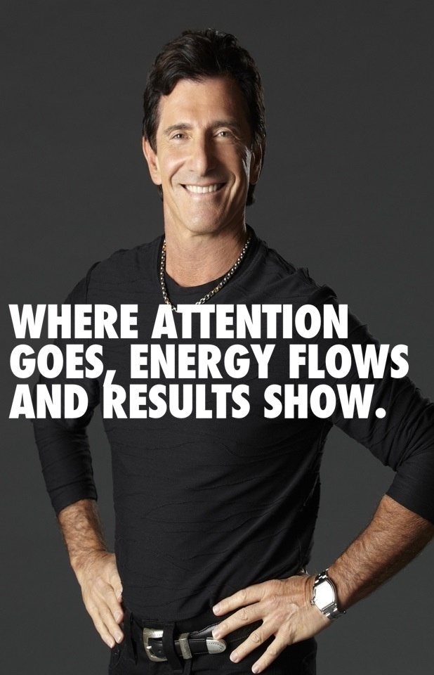 Where attention goes, energy flows and results show. T.Harv Eker
