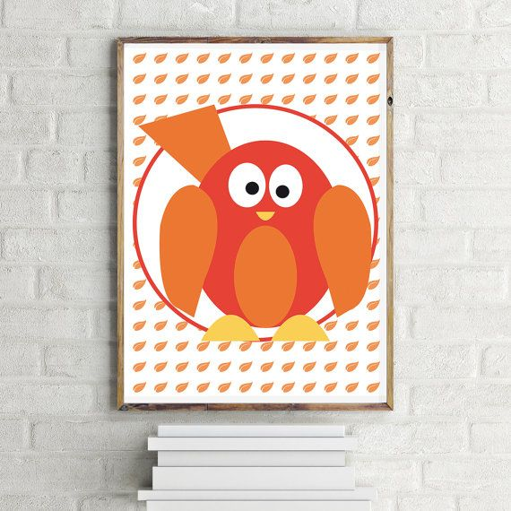 Customizable Birdie Poster: Nursery Animals Babies di LiLABgraphic