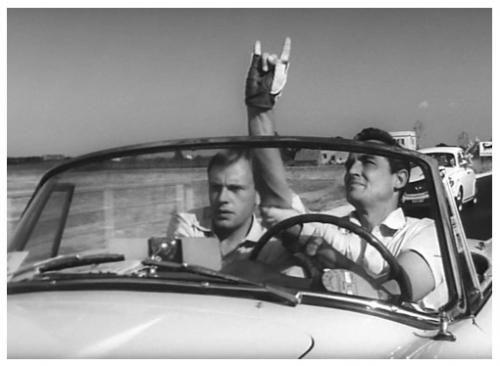 Il Sorpasso , IT '62 , com-dram , di Dino Risi ( MI 1916-2008 Roma) , con Vittorio Gassman (1922-2000) , Jean-Louis Trintignant (32)