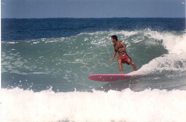 Praia do Camburi, verão de 2000.  #RicardoMachion #Longboard #SingleFin #DiamondTail