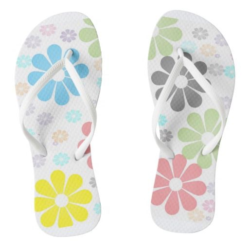 Flower Power Flip Flops #flipflops #summer #beach #footwear #zazzle #macsnapshot #flowers #designflipflops #popularflipflops