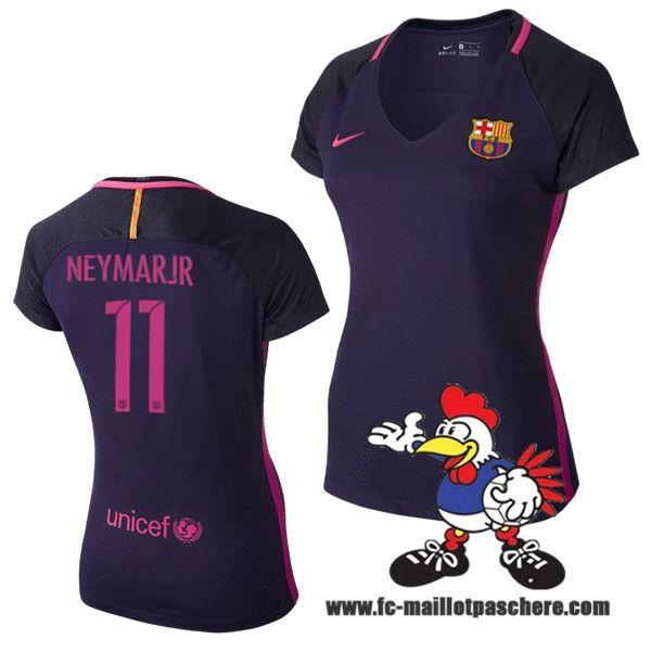 Nouveau Maillots FC Barcelone Femme (NEYMAR JR 11) Exterieur 2016 2017 Beau