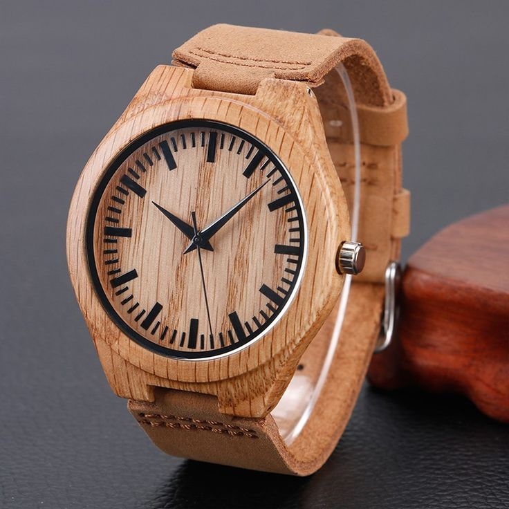BambooWatches - es un estilo de moda en accesorios tipo VARTEZ, donde la   madera, la tecnología y el diseño se unen para crear lo mas moderno y   natural, donde la madera siempre será protagonista.<br><br>  Garantía un año en el cuarzo Japonés (Citizen)<br>Cierre: Hebilla en acero inoxidable.<br>Material: Madera bambú y cuero natural argentino.<br>No resistente al agua.<br>100% hecho a mano.<br>REF: BambooWatches