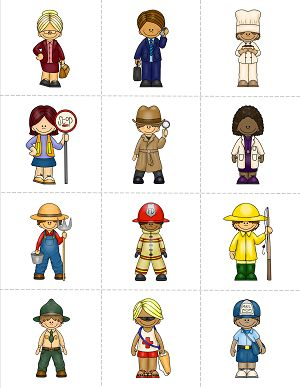 This Community Helpers Matching Game comes with images of 24 community helpers and 24 cards with the job titles. Print one set of each and match the picture to the job title, or print two sets and match images to images or job titles to job titles. Either way, lots of fun is ahead!