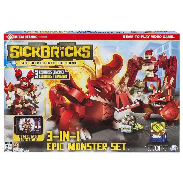SICK BRICKS Epic Monster Attack Set Battle Game legos brix sickbricks build play #OpticalBeaming