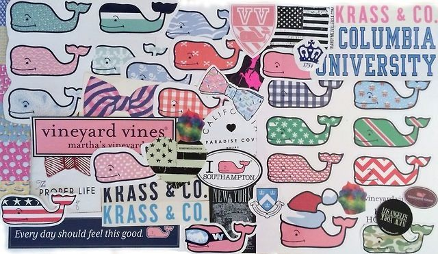 Some of my favorite brands mailed me FREE stickers to advertise for them so now I have about 15 stickers to put on my water bottles, on my laptop case etc. Here's how to get your free preppy sticke...