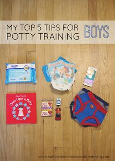 Potty Training Tips do some research (check Pull-Ups Big Kid Academy). Tailor training for your kid (visual/verbal/treats,etc). Expect set-backs. Reward with praise and incentives. Don't force it, wait for signs they are ready.