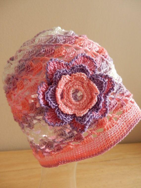 Crochet Summer Baby Hat Girl hat Crochet baby beanie