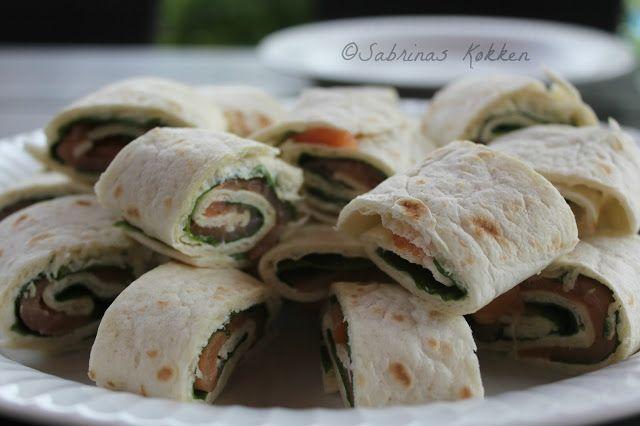 Sabrina's Køkken: Lakseruller med flødeost og spinat