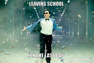 Leaving on last day of school
