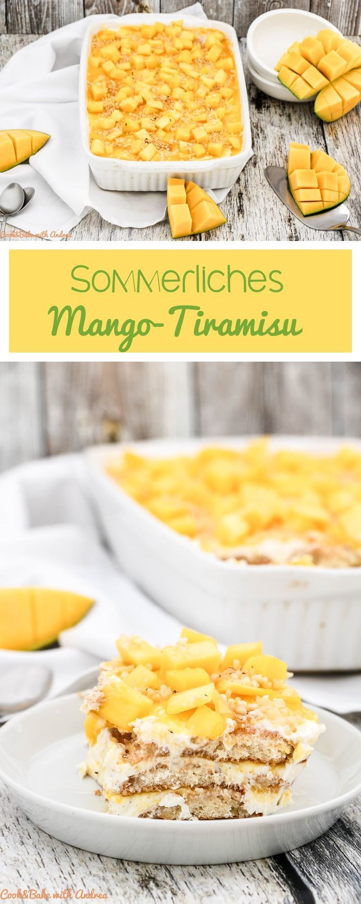 Summery mango tiramisu with lemon   – Desserts Rezepte