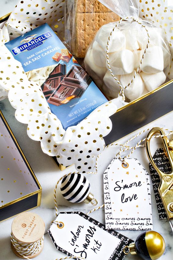 51 best diy chocolate gifts images on pinterest chocolate gifts an indoor smores kit is the perfect last minute gift for coworkers neighbors negle Images