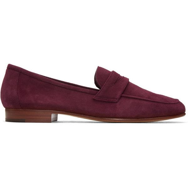 Mansur Gavriel Purple Suede Classic Loafers (24.675 RUB) ❤ liked on Polyvore featuring shoes, loafers, purple, mansur gavriel, loafer shoes, suede loafers, purple shoes and loafers moccasins