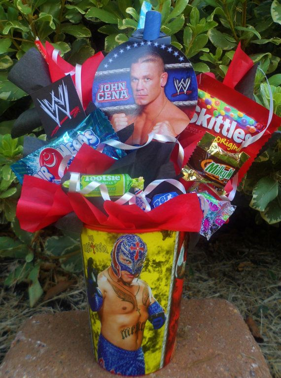I can so make these....... WWE Kids Candy Party Favors by LynnsCandyCreations on Etsy, $4.99
