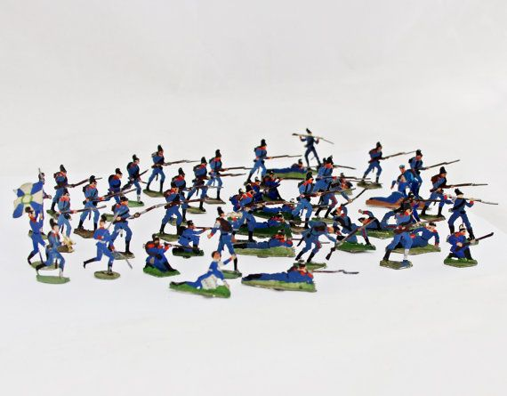 47 Antique German Tin Soldiers Lead Soldiers by GrandpasMarket