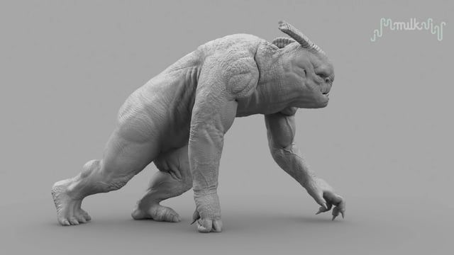 """Making of the troll (Beowulf return to the shieldlands)  Last year at milk-vfx I spent most of my time on the itv series """"Beowulf return to the shieldlands"""" and the troll was one of my main assets to build(model, sculpt & blendshapes)  video that shows the vector contraction maps working (muscles, veins and wrinkles)  Troll build credits: supervisor - Jean-claude Deguara & Nicolas Hernandez Concept - grant bronser & Daniel Bystedt  Texturing - Henry south Look dev & lighting - Adri..."""