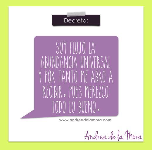 Soy flujo de abundancia | Andrea de la Mora