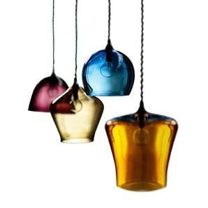 Curiousa and Curiousa  Hand-blown Glass Pendant Lights. Simply WOW! Pure glass love...